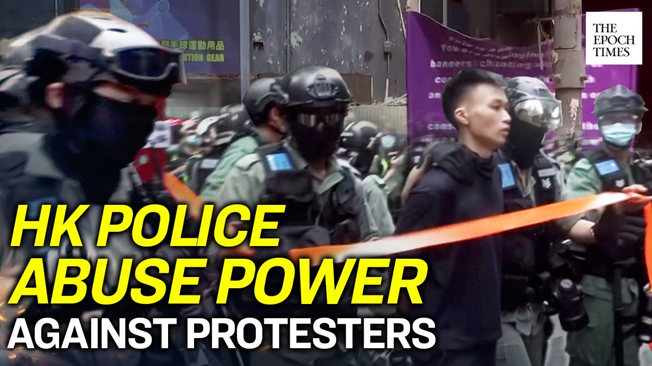 hk-police-arrest-300-protesters-marching-against-the-new-security-law-epoch-news