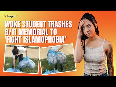 woke-student-trashes-9-11-memorial-to-fight-islamophobia-will-amala-live